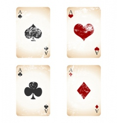 grunge playing cards vector image