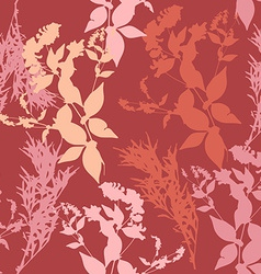 Flowers on pink background seamless pattern vector