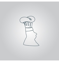 Silhouette of chef in hat vector