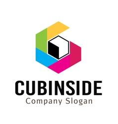 Cubinside Design vector image