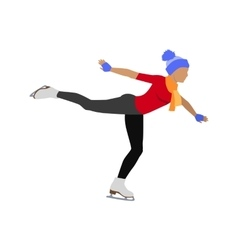 People skating flat style design vector