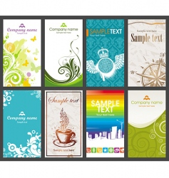Collection of vertical business card vector