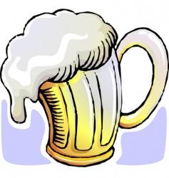 Beer mug vector