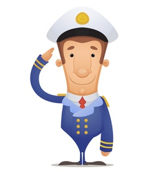 captain vector image vector image