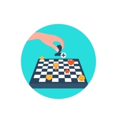 Chess board content strategy vector