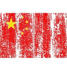 Chinese grunge flag vector image