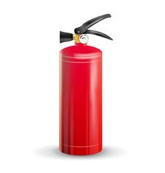 classic fire extinguisher metal glossiness vector image