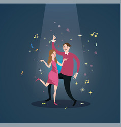couple dance together celebration under spot light vector image