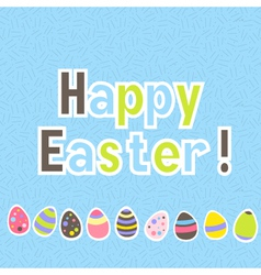 Easter colorful blue greeting card vector image vector image