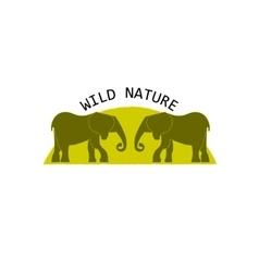 Elephant symbol Logo concept vector image