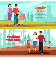 Family banners set vector
