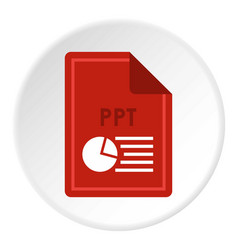 File ppt icon circle vector
