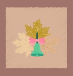 Flat shading style icon alarm school bell vector