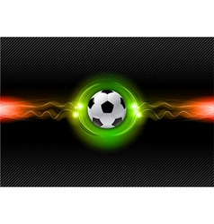 football electric dark green vector image vector image