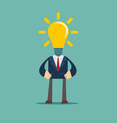 His head full of great ideas vector
