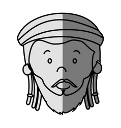 Jamaican man character icon vector