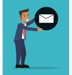 Man business email message office vector