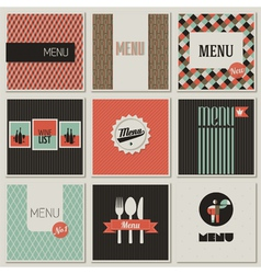 Menu label on a seamless background vector image vector image