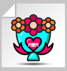Mothers day icons 4 vector