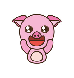 pig baby animal kawaii design vector image vector image