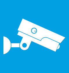 Security camera icon white vector