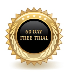 Sixty day free trial vector