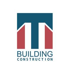 square building construction logo vector image