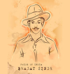 Vintage india background with nation hero and vector