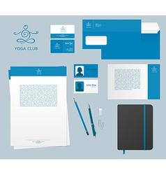 Yoga studio branding set vector