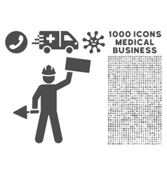 Builder icon with 1000 medical business symbols vector