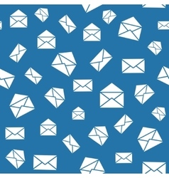 Seamless mail pattern with envelopes vector