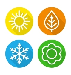 Set of icons seasons vector