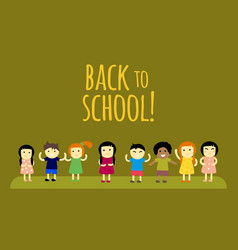 Different pupils kids back to school vector