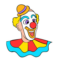 Face clown icon cartoon vector