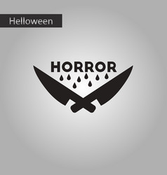 Black and white style icon halloween knives horror vector