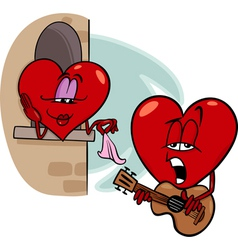 Heart love song cartoon vector