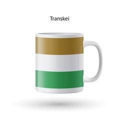 Transkei flag souvenir mug on white background vector