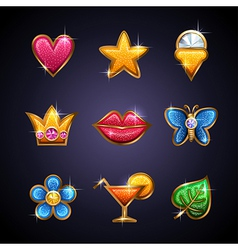 golden icons vector image