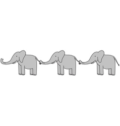 Happy elephants vector