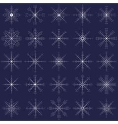 Ornate elegance snowflakes set for Christmas vector image