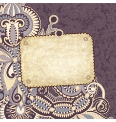 Grunge vintage template with ornamental floral vector