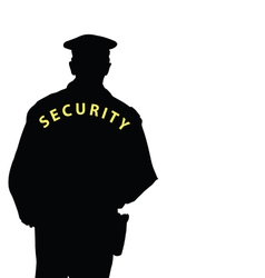 Security man color vector