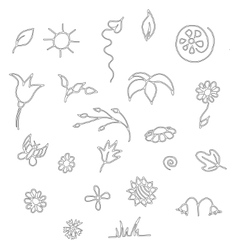 Seamless floral spring doodle pattern vector image