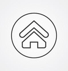 Home outline symbol dark on white background logo vector image