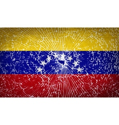 Flags venezuela with broken glass texture vector