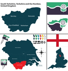 South yorkshire yorkshire and the humber vector