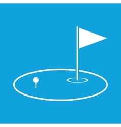 Golf area icon simple vector