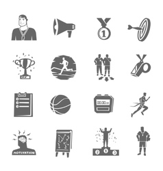 Coaching and sport icons set vector