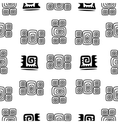 Ethnic element seamless pattern black and white vector