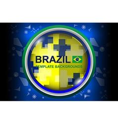 Brazil design color backgrounds vector
